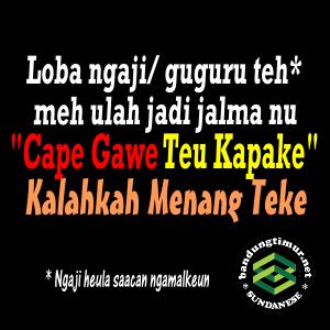 DP BBM Sunda, Cape Gawe Teu Kapake
