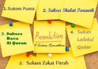 target 5 sukses ramadhan