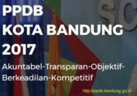 ppdb kota bandung tahun 2017